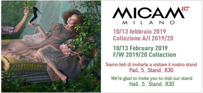 Invito Micam Milano Autunno Inverno 2019